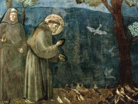 "Giotto, ""St. Francis and the Birds"""