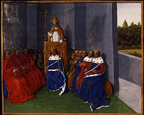 This painting of the Council of Clermont by Fouceut in 1460 shows the field location more accurately than most renaissance artists who rendered the council as having been held in a larger cathedral.