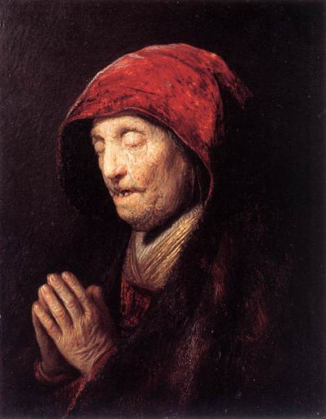 """Old Woman Praying"" by Rembrandt"