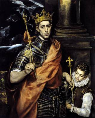 St. Louis IX by El Greco (1595) housed in the Louvre, Paris