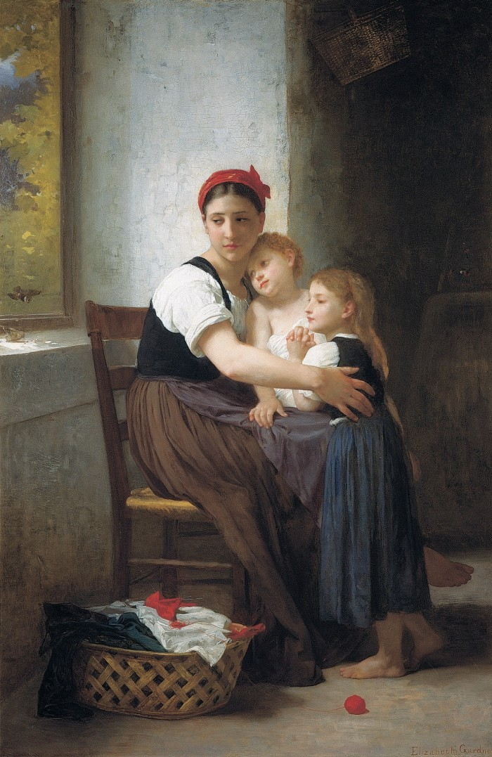 He Careth. Elizabeth Jane Gardner (Bouguereau). © 2013 Philbrook Museum of Art, Tulsa OK. This image is used by permission of the museum and may not be reproduced or reused without their written permission.