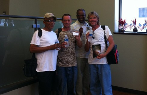Some of our LWP ministers. From left to right: Moe Lyman, Verne Maple, Joe Peace, and James Crowell.