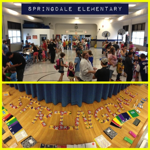 One of our 5 Back to School events - this one was at Springdale Elementary in North Tulsa.