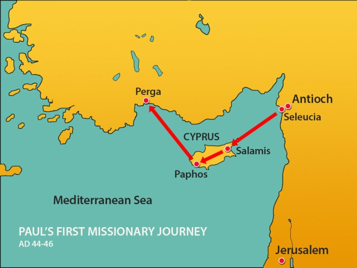 Antioch and Pauls 1st Missionary Journey